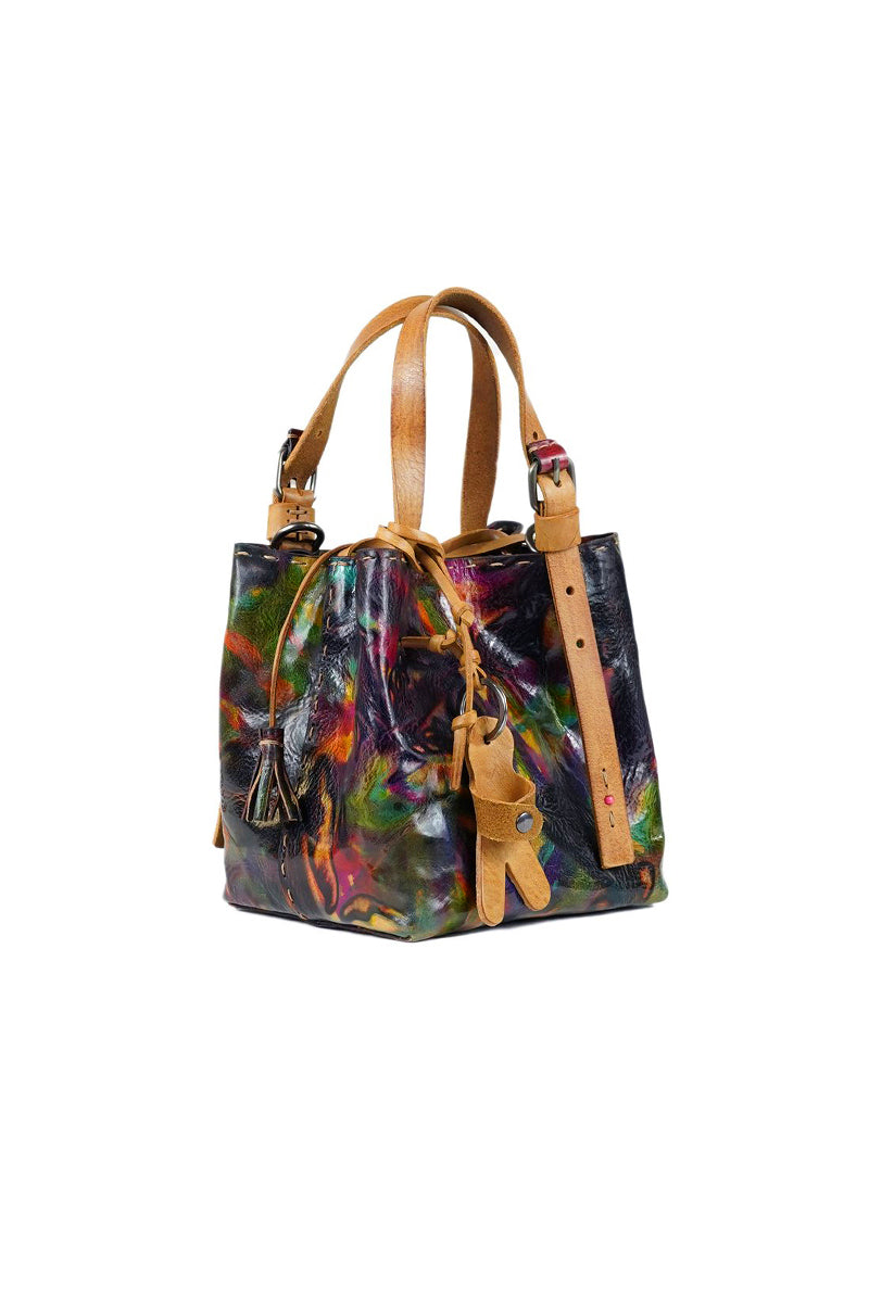 Leather Mini New Daria Bag in Picasso Multicolor