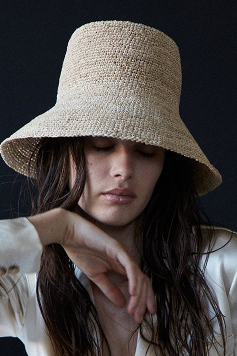 Felix Woven Bucket Hat in Natural