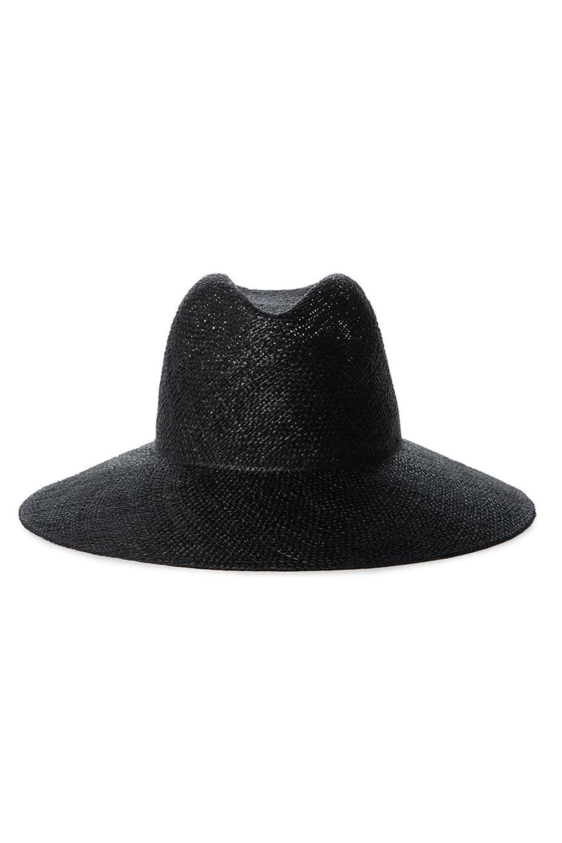 Martina Woven Hat in Black