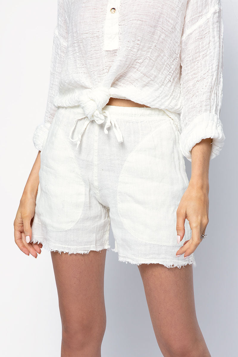 Linen Tela Country Short in Latte