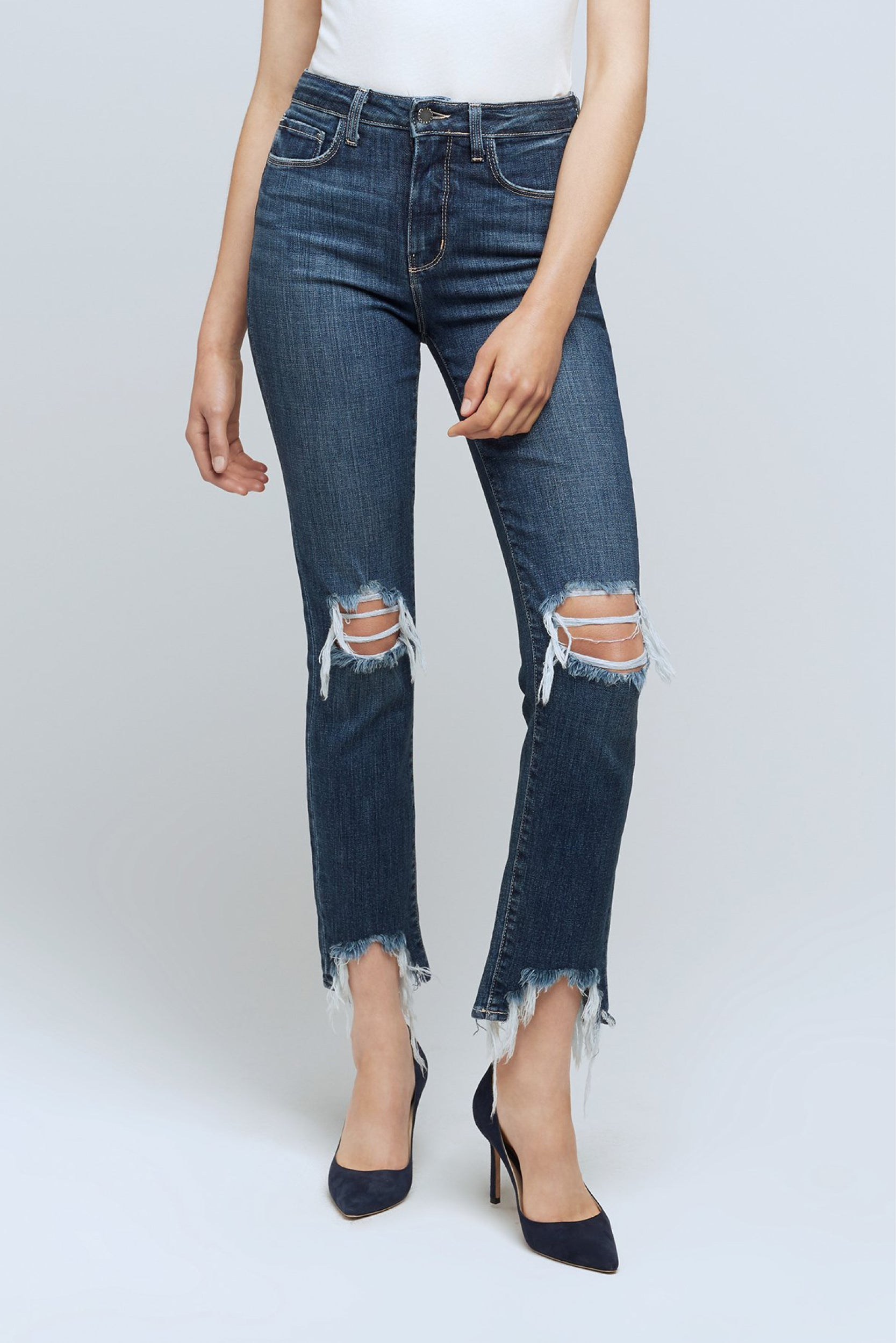 High Line Skinny Jean in Destroyed Encina