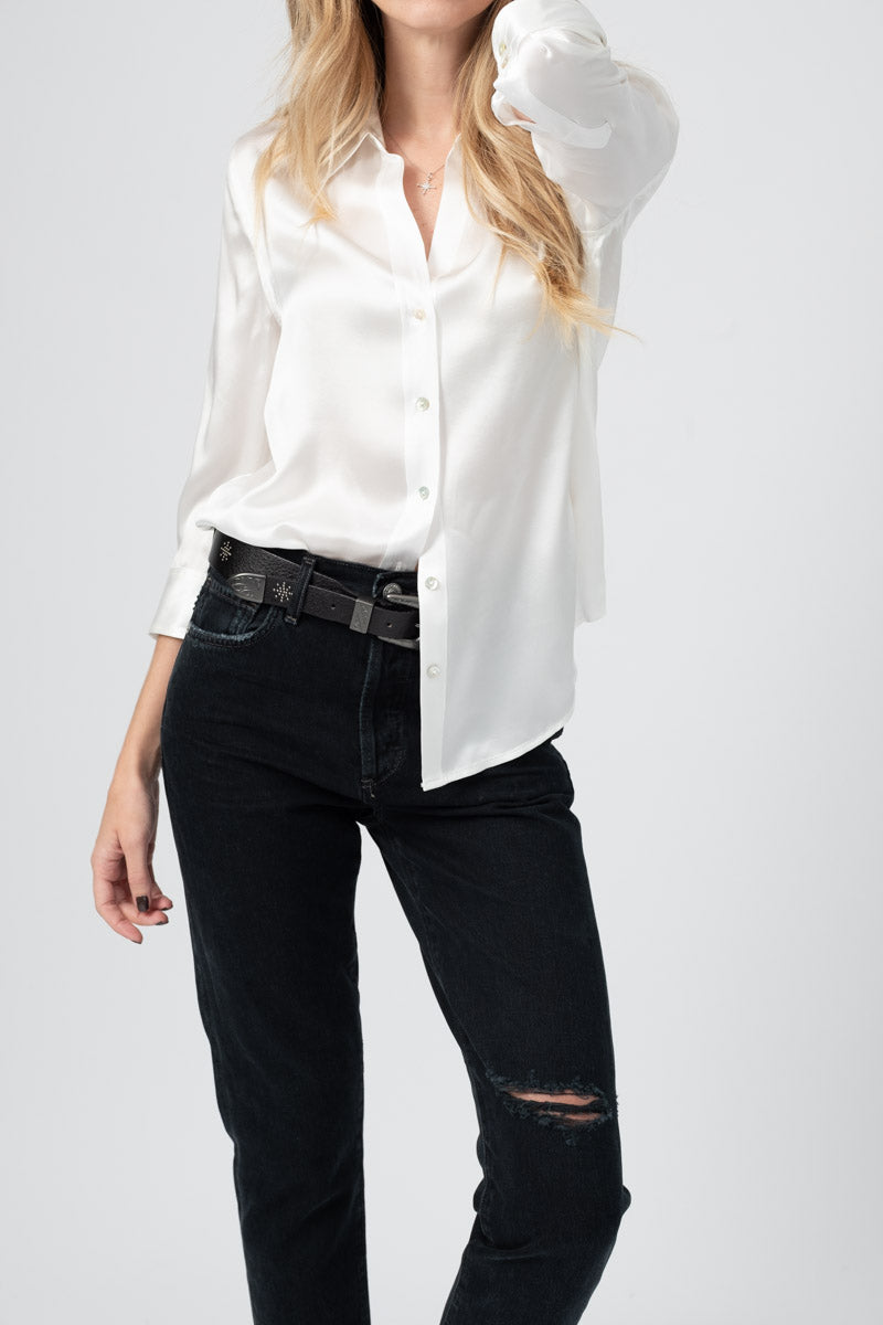 Dani 3/4 Sleeve Blouse in Ivory