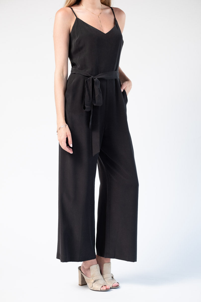 Jaelyn Camisole Jumpsuit in Black