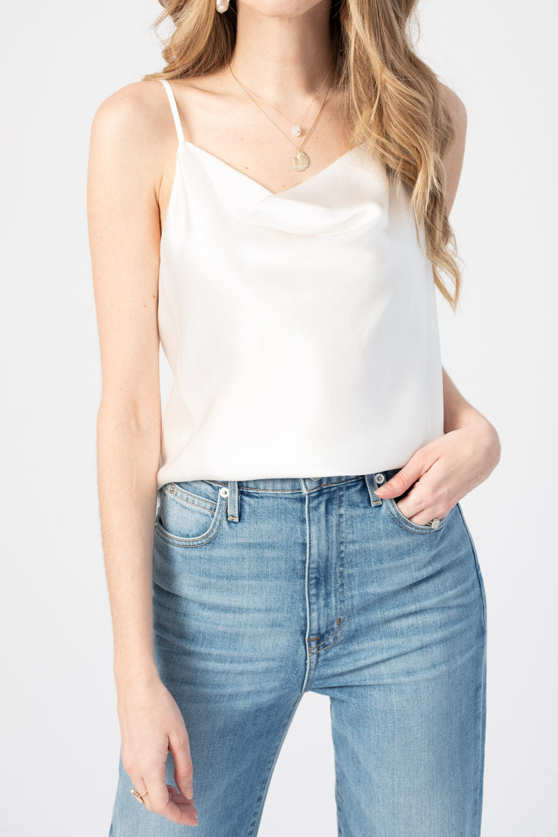 Kay Camisole Tank in Ivory