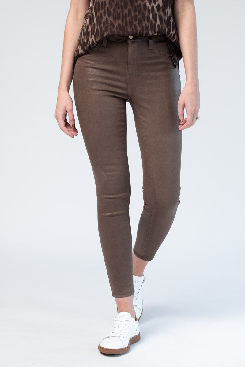 Margot High Rise Skinny in Chestnut Coated