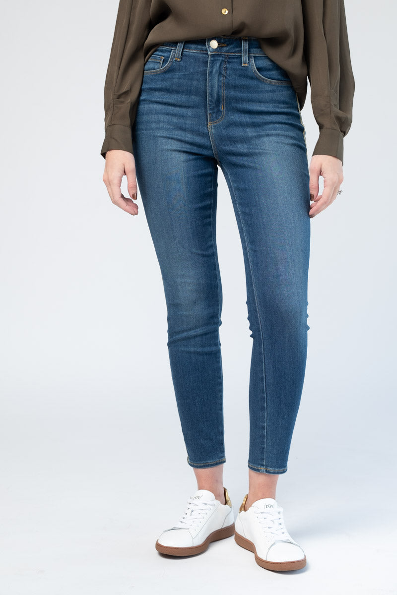 Margot High Rise Skinny in Neptune
