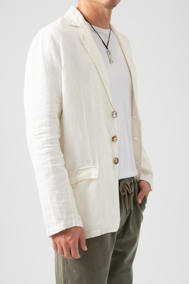 Linen Jacket in Latte