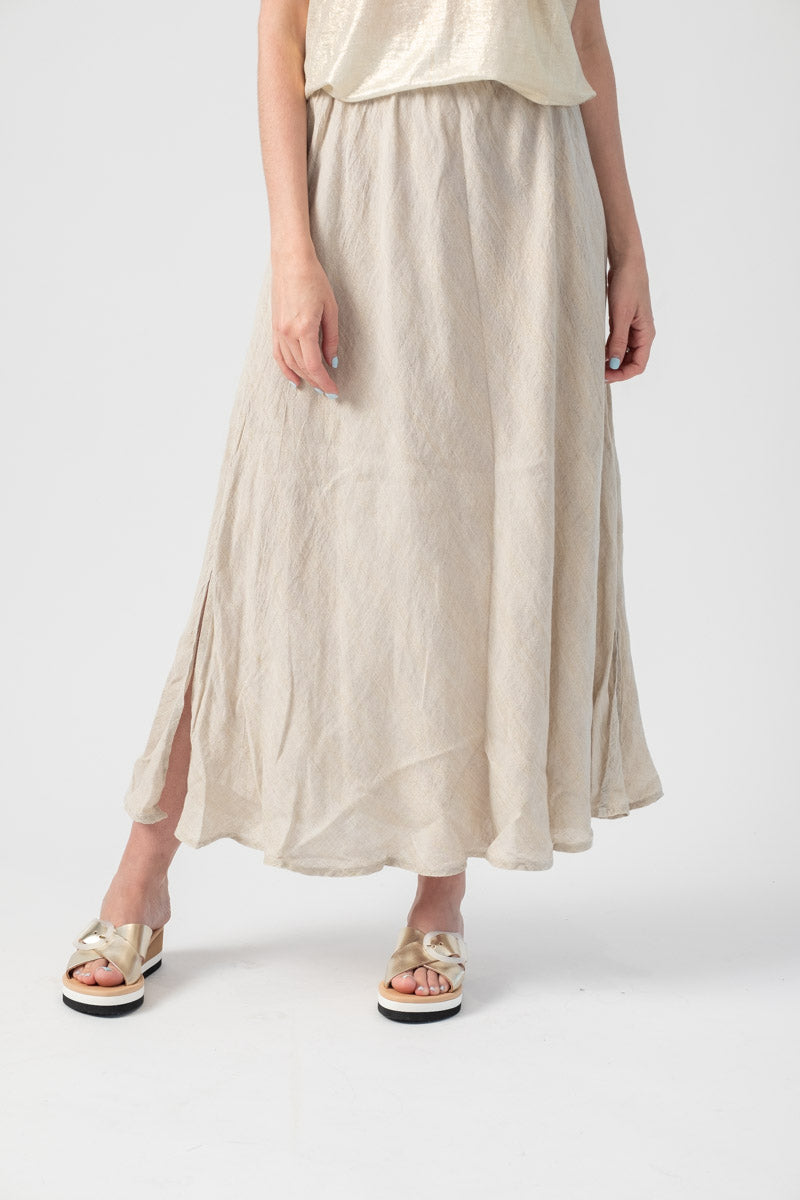 Linen Mermaid Skirt in Riga Sole Naturale