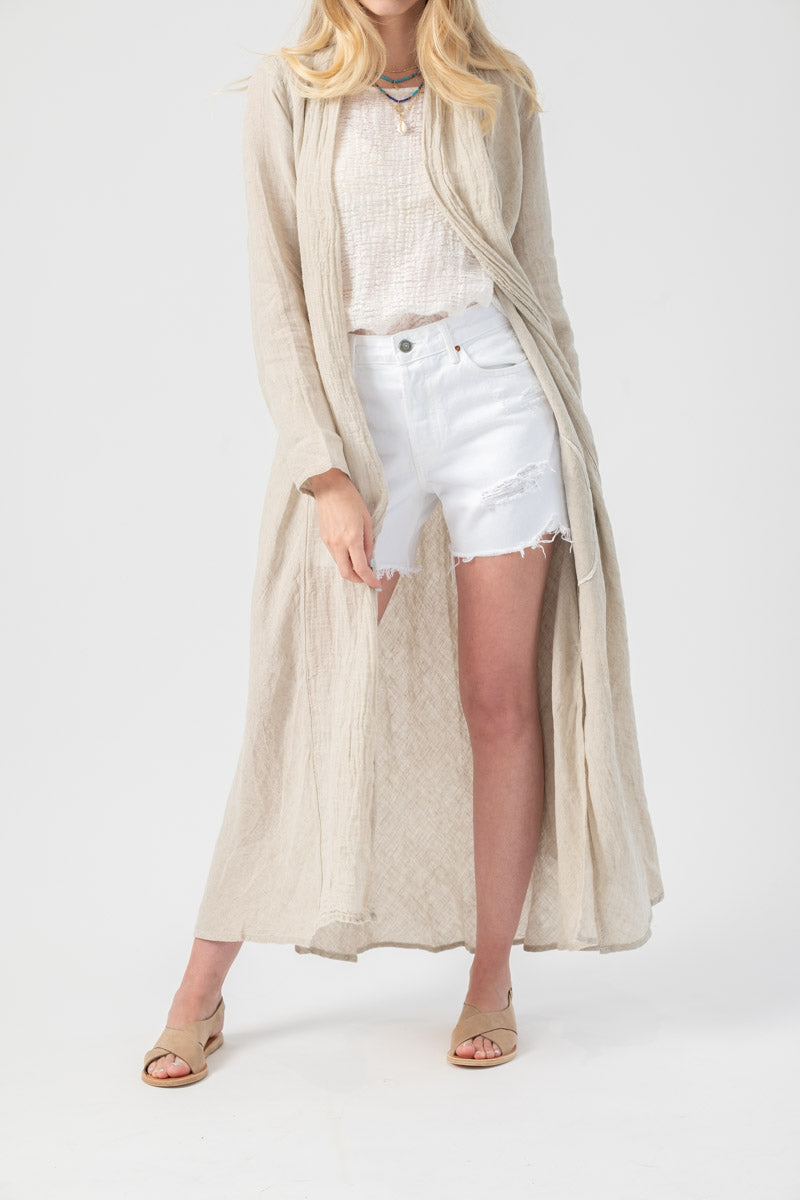 Spolverino Linen Duster Battista in Naturale