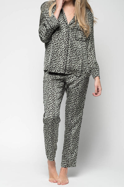 Riley PJ Pants in Dot Laurel Wreath