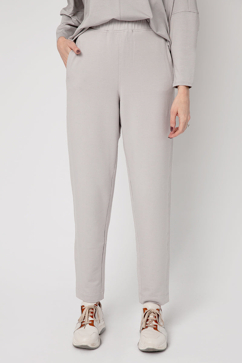 Ottanta Jersey Trousers in Cemento
