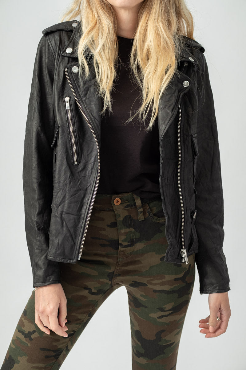 Colton Leather Jacket in Black