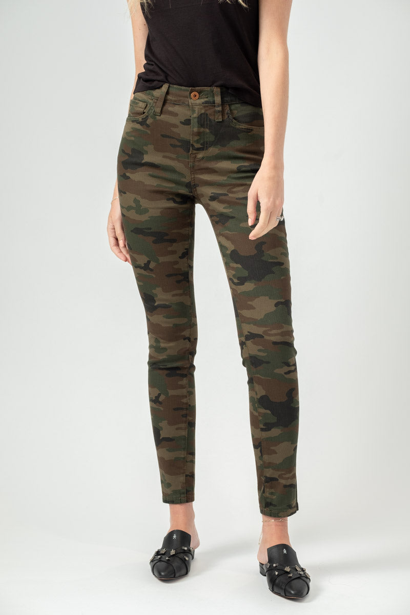Victoria High Waist Skinny in Drab Camo