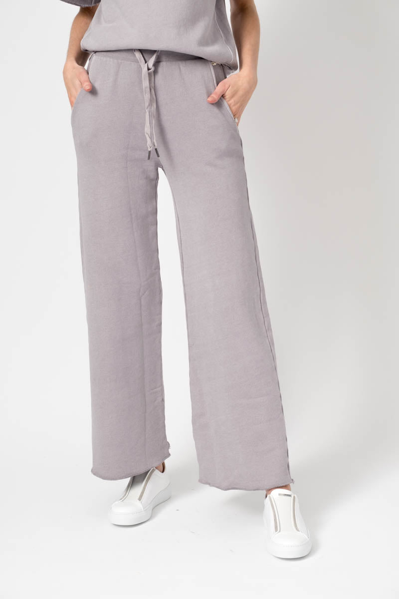 Delilah Wide Leg Sweatpant in French Purple