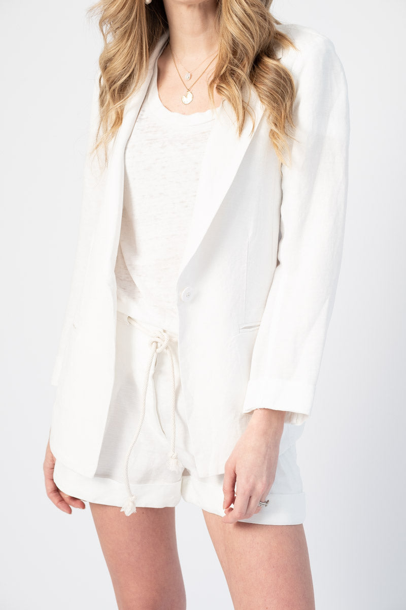 Trudy Blazer in Soft White