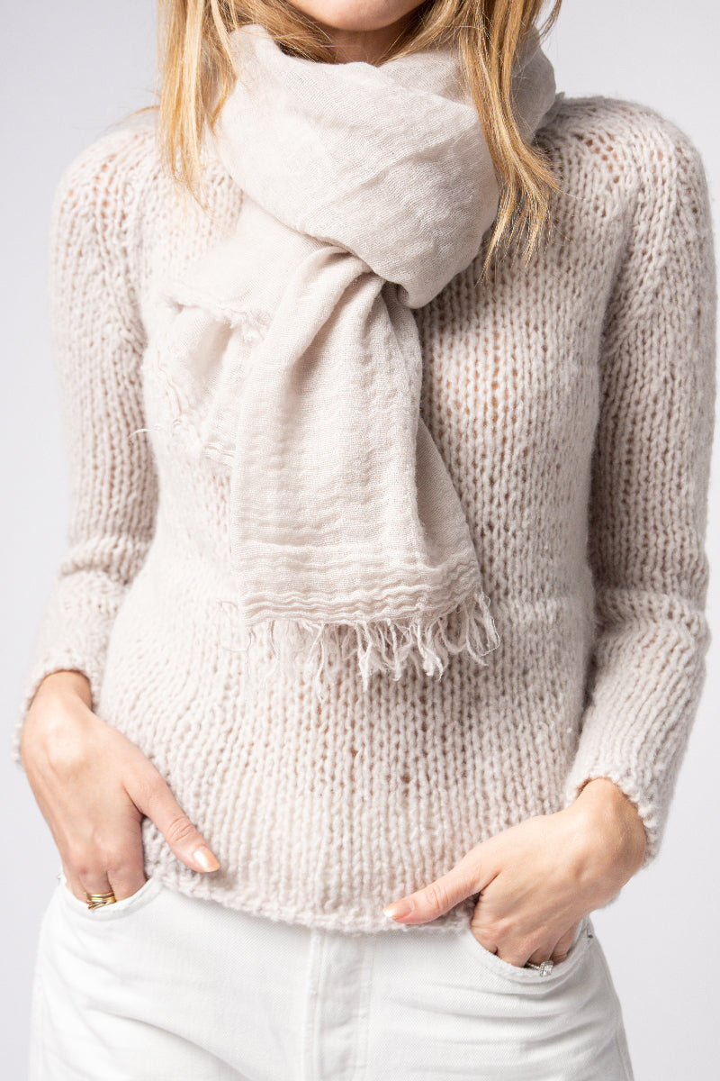 Net Slow Cashmere Scarf in Sand