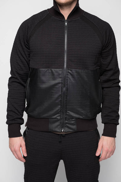 Black Jogger Zip Up Jacket