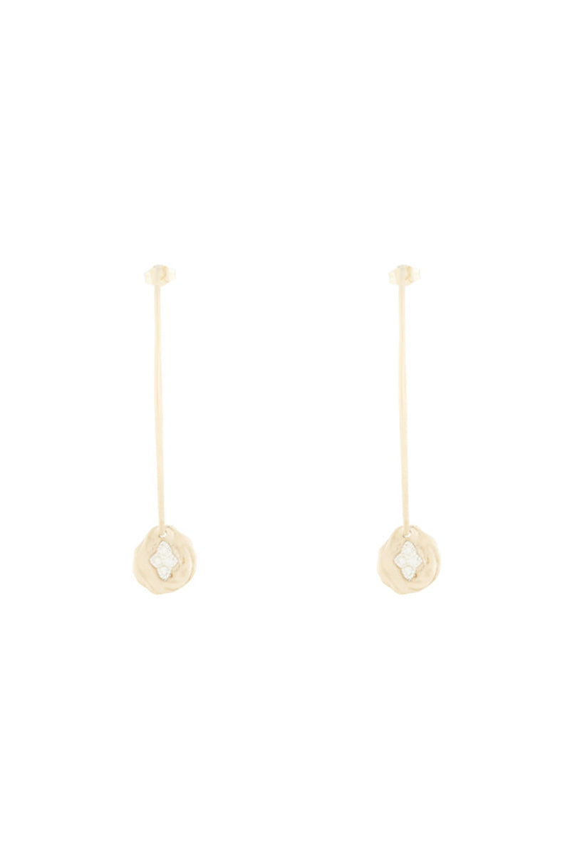 9K Yellow Gold Hayett N°2 Earrings