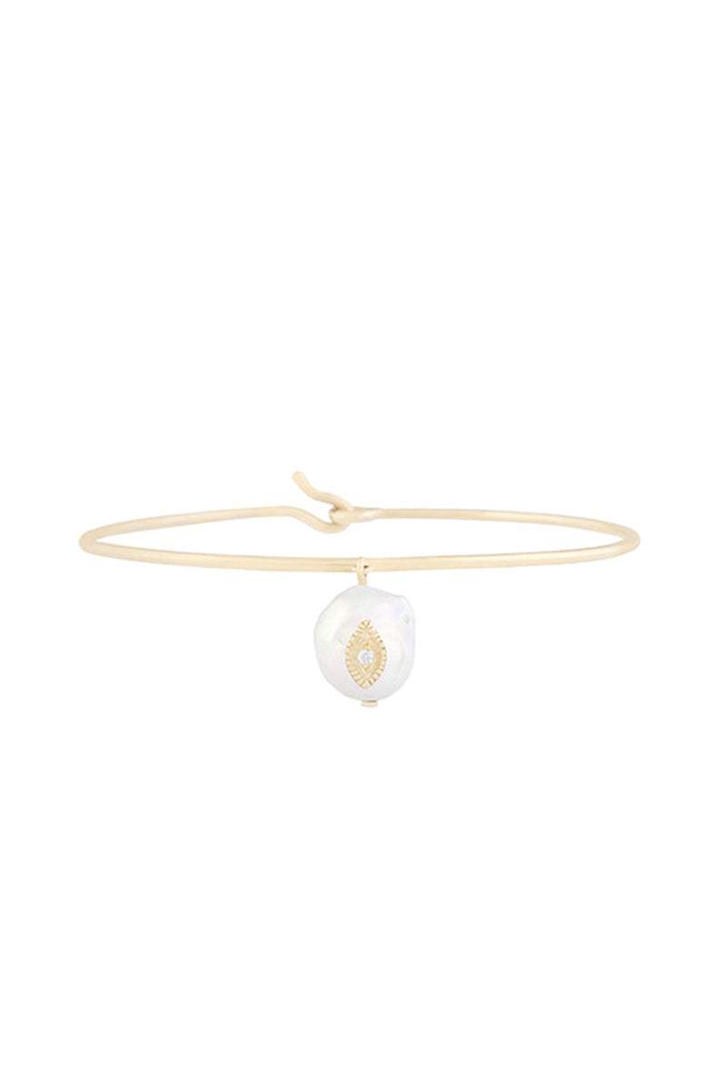 9k Yellow Gold Charlie Bracelet with Pearl