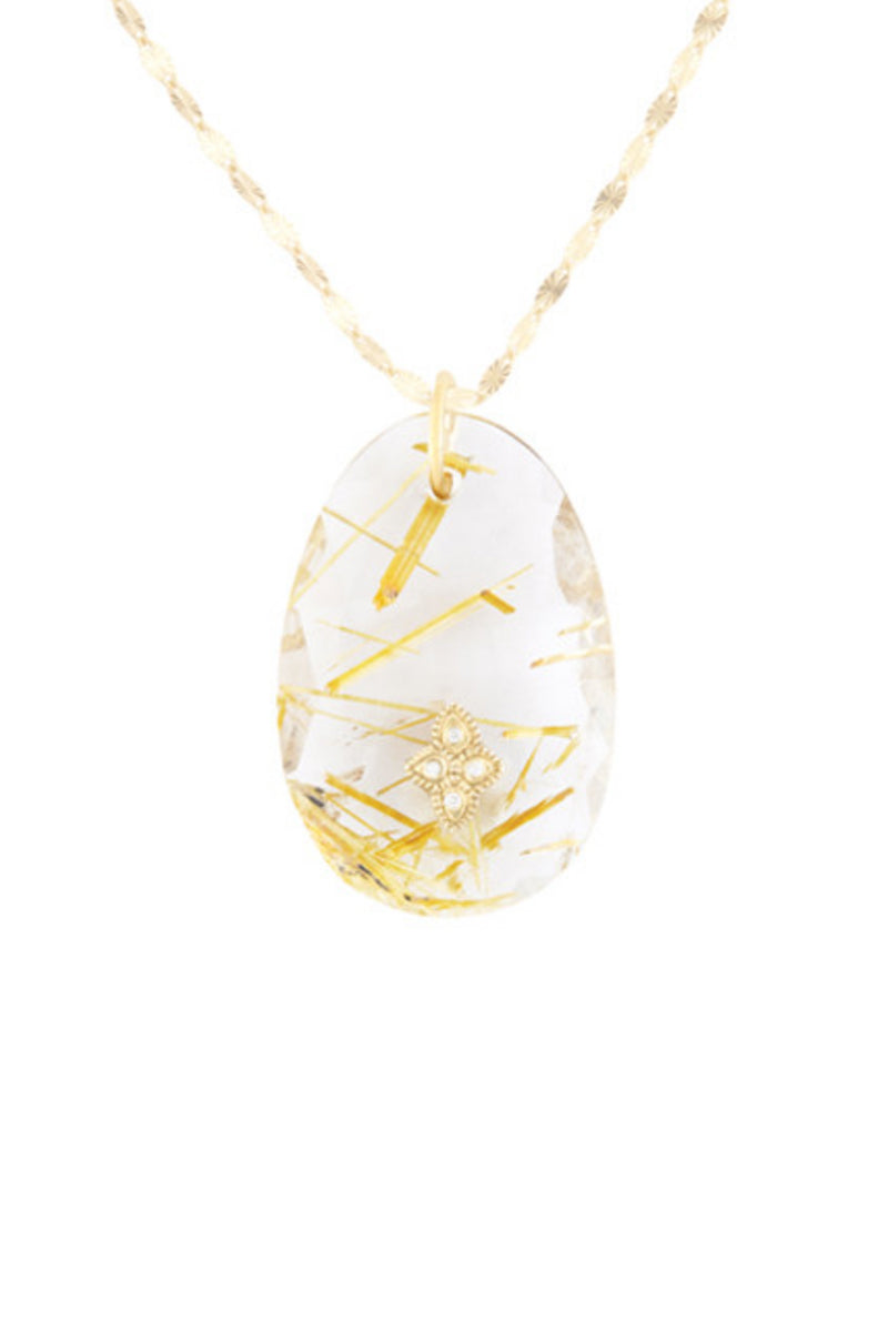 Gaïa N°2 Rutile Quartz Necklace