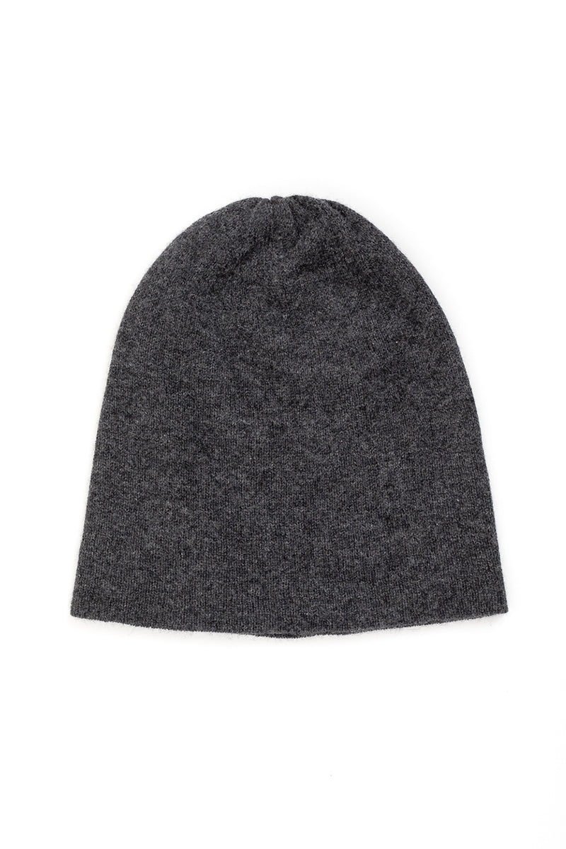 Slouchy Beanie in Charcoal