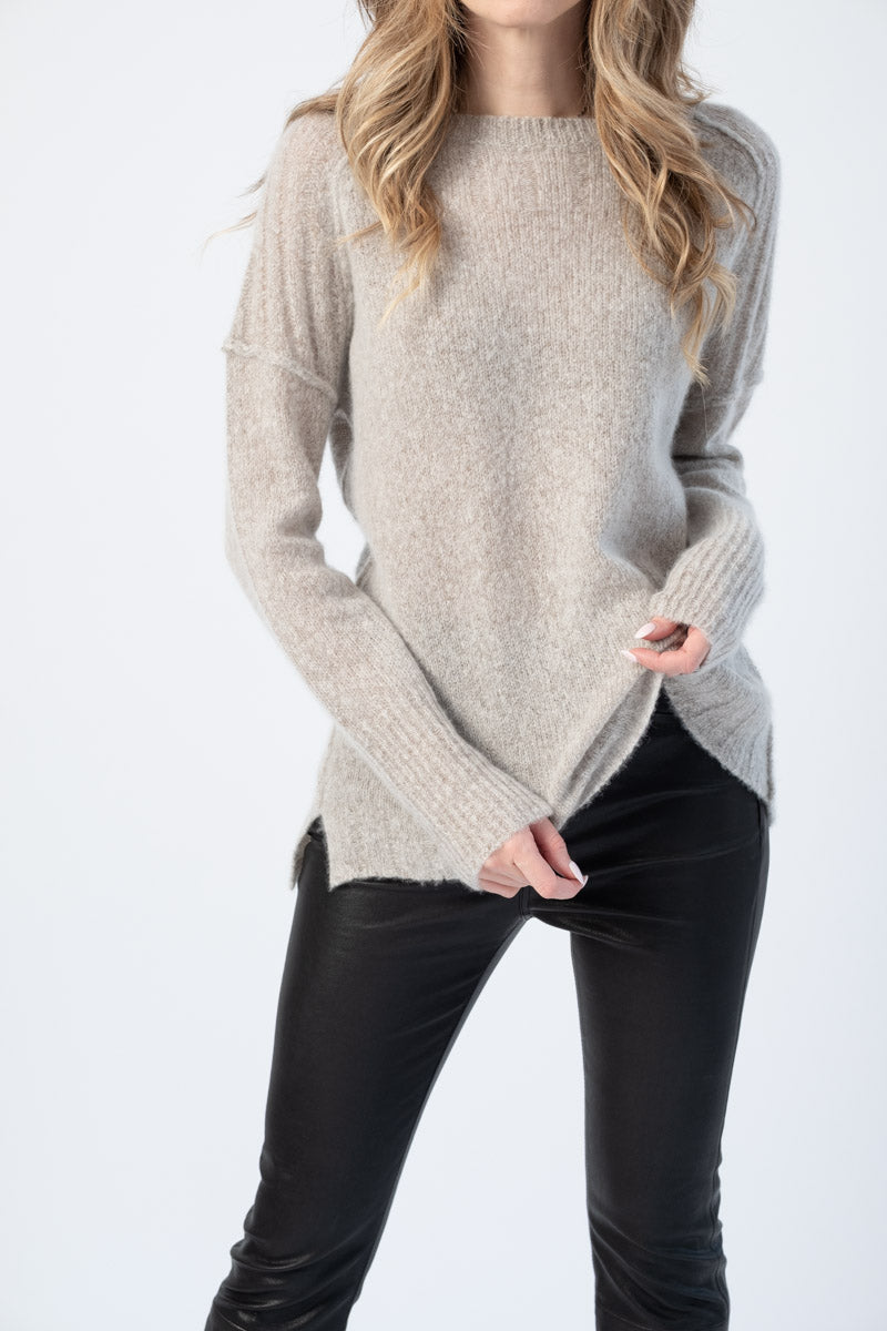 Dreamy Cashmere Pullover Sweater in Hazel
