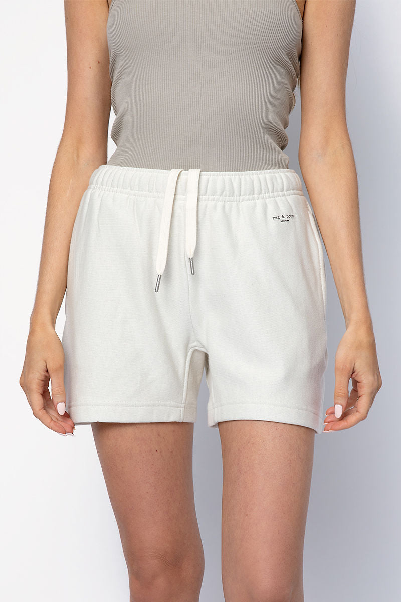 City Sweat Short in Ivory