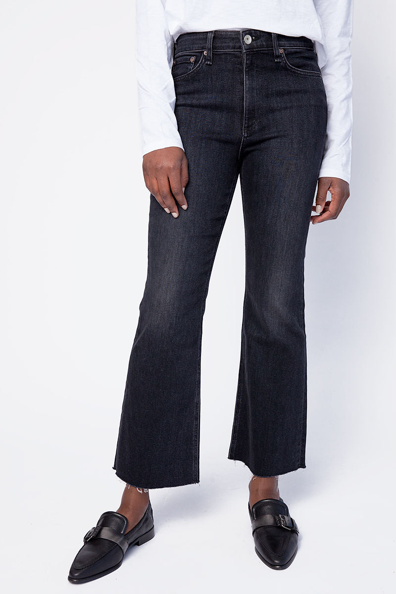 Nina High Rise Flare Jeans in Reyes