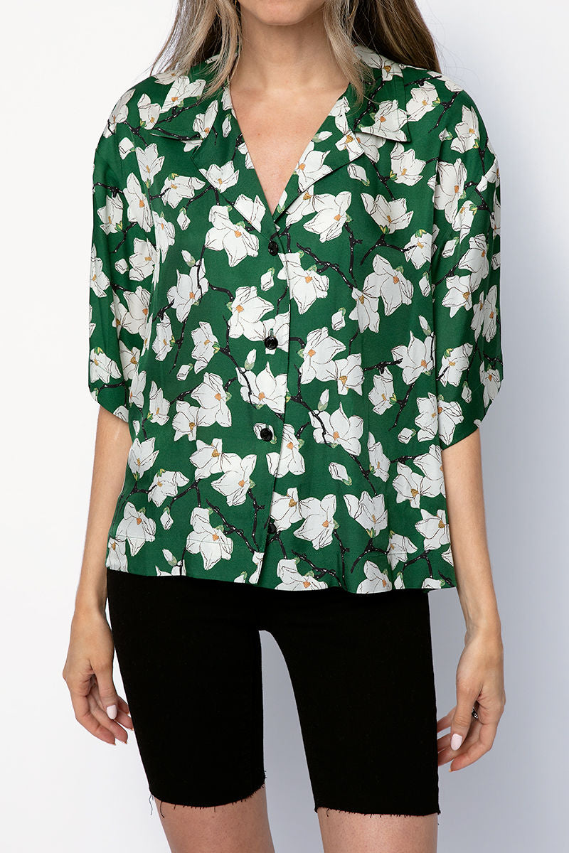 Reed Floral Shirt in Green Multi