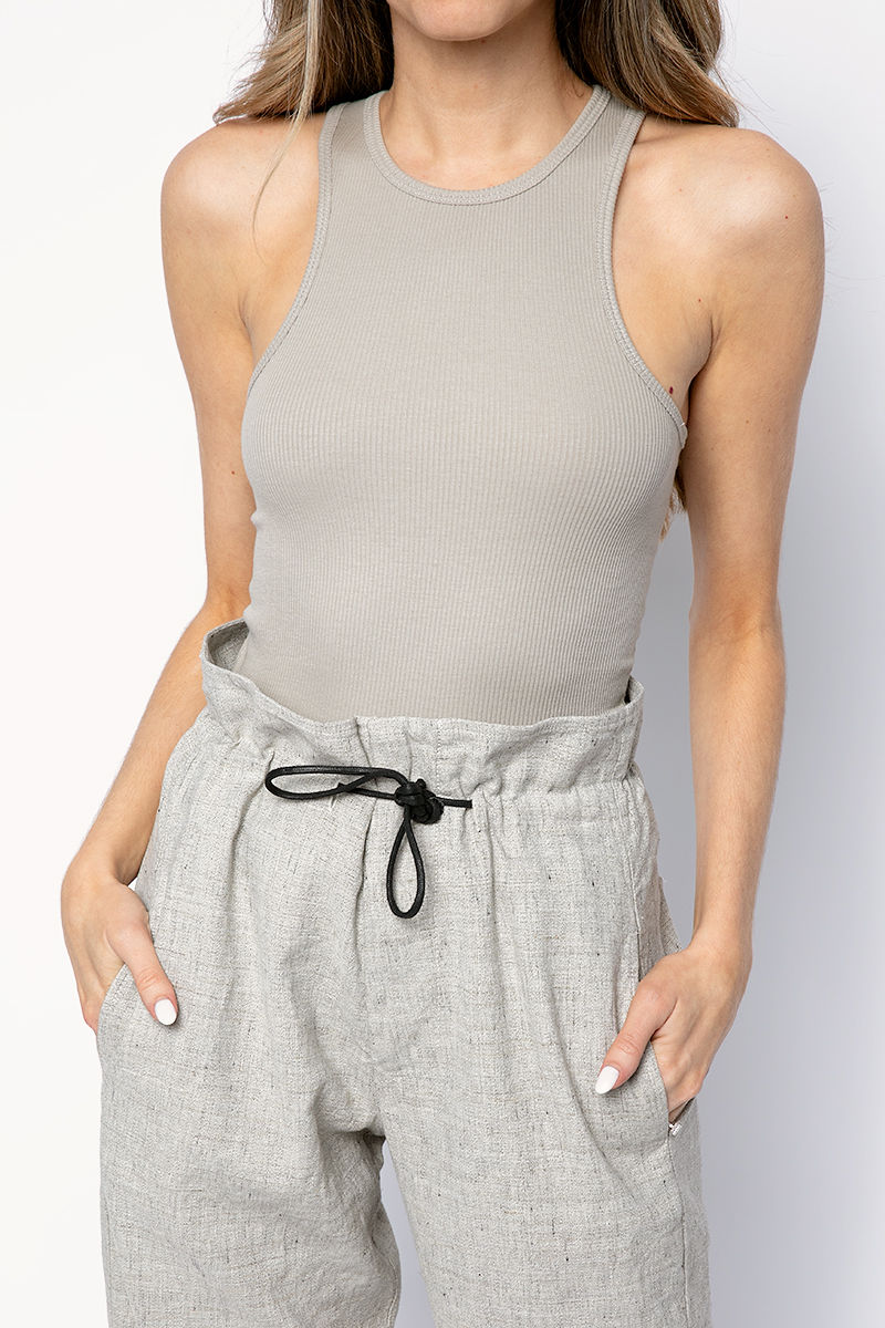 The Essential Rib Tank in Grey Dawn