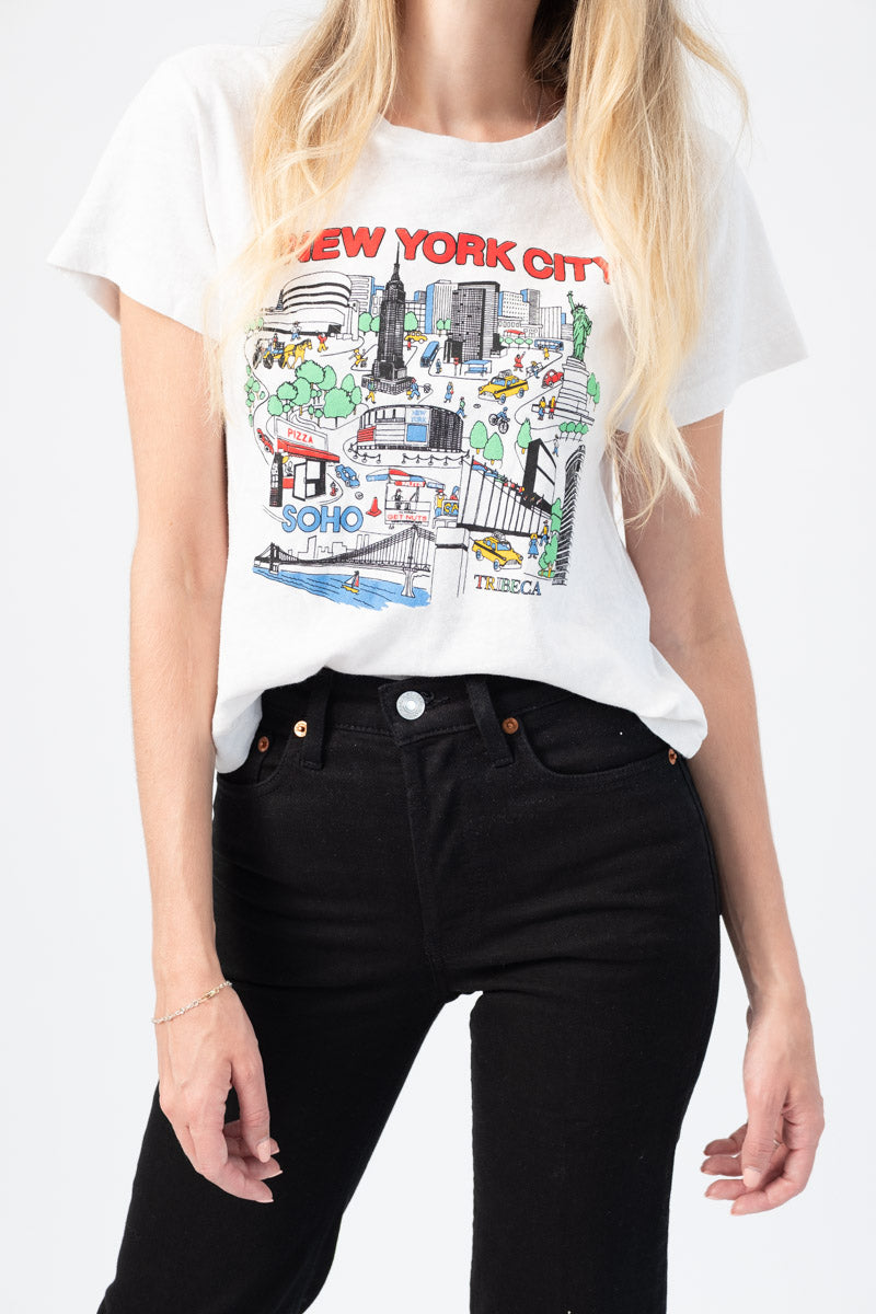 "The Classic ""New York City"" Tee in Vintage White"