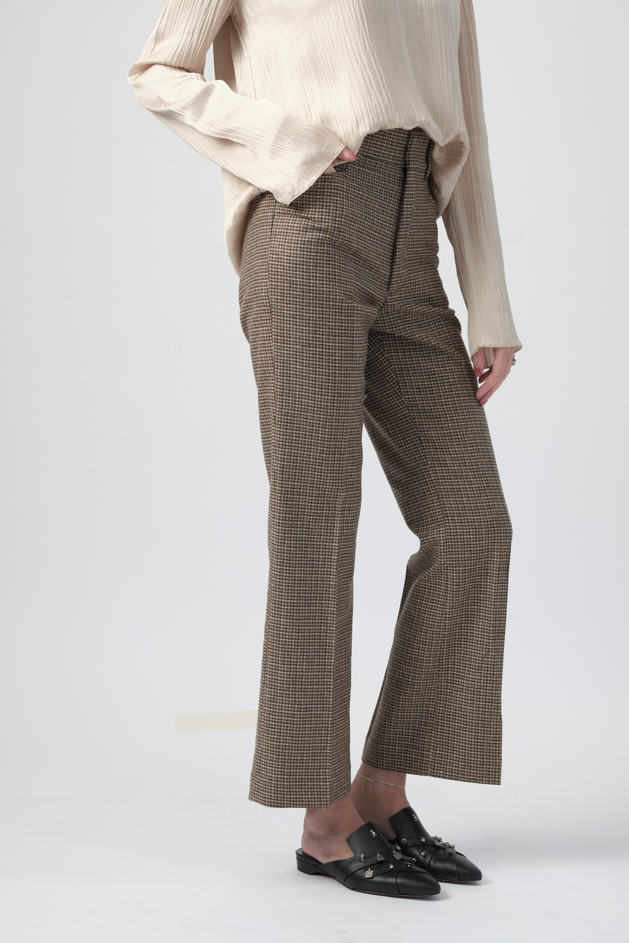70s Trouser Pant in Plaid