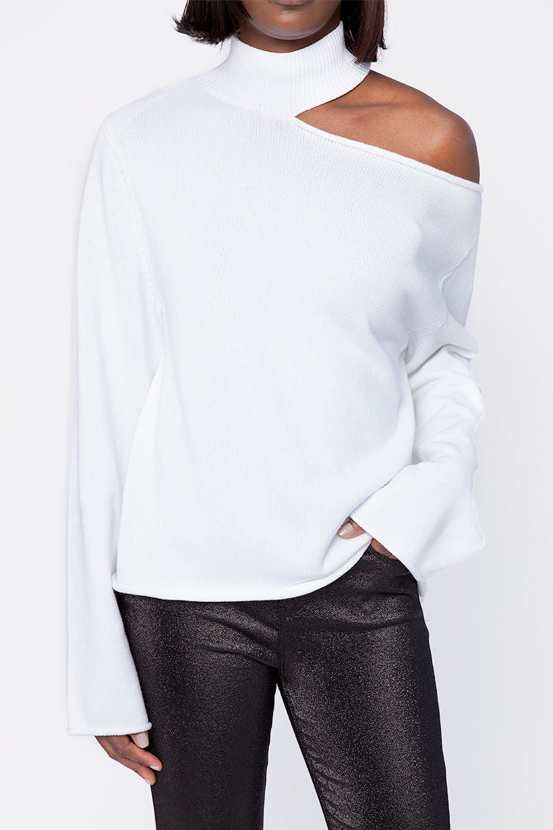 Langley Cutout Sweater in White