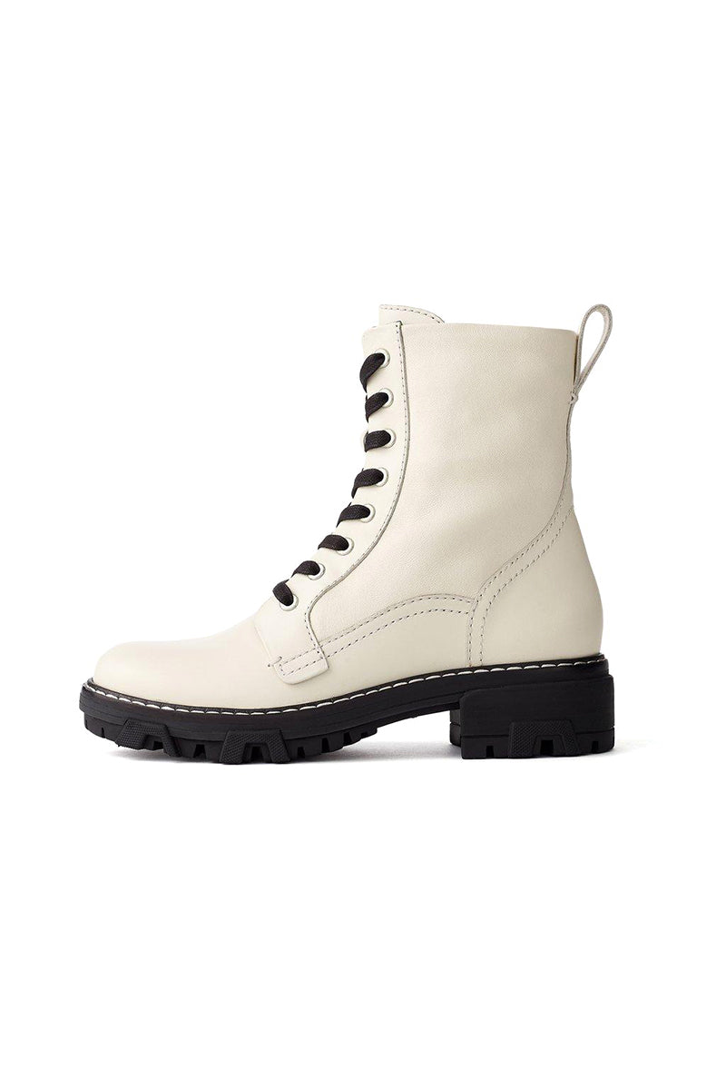 Shiloh Combat Boot in Antique White