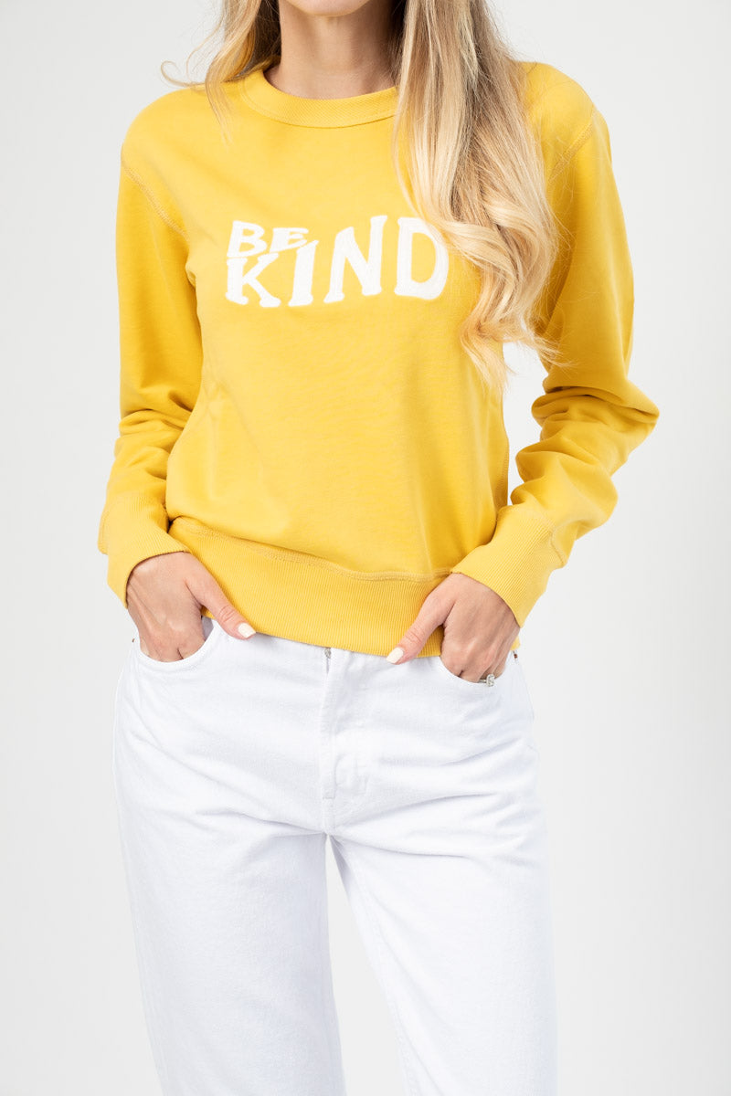 Be Kind Sweathsirt in Yellow