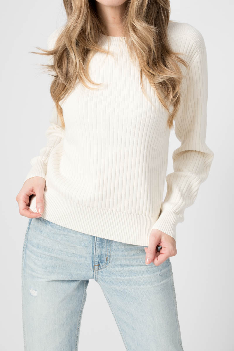 Irwin Crewneck Sweater in Chalk