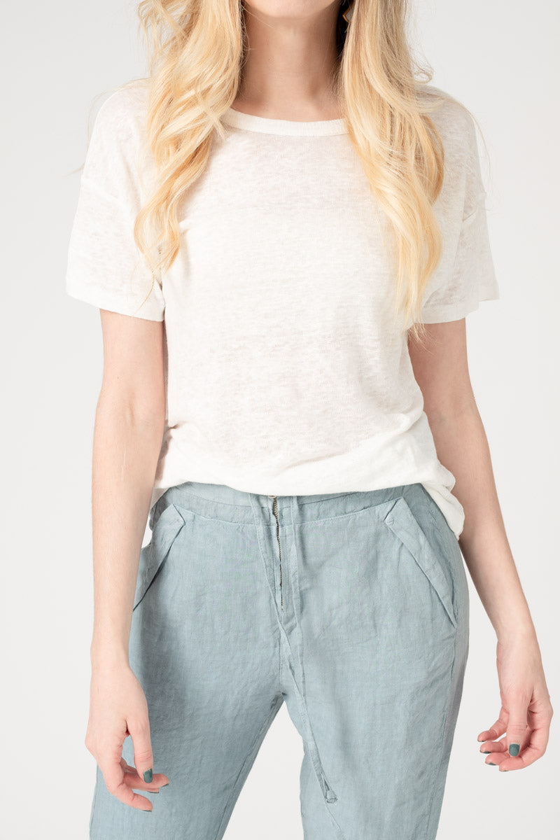 Gage Linen Tee in White