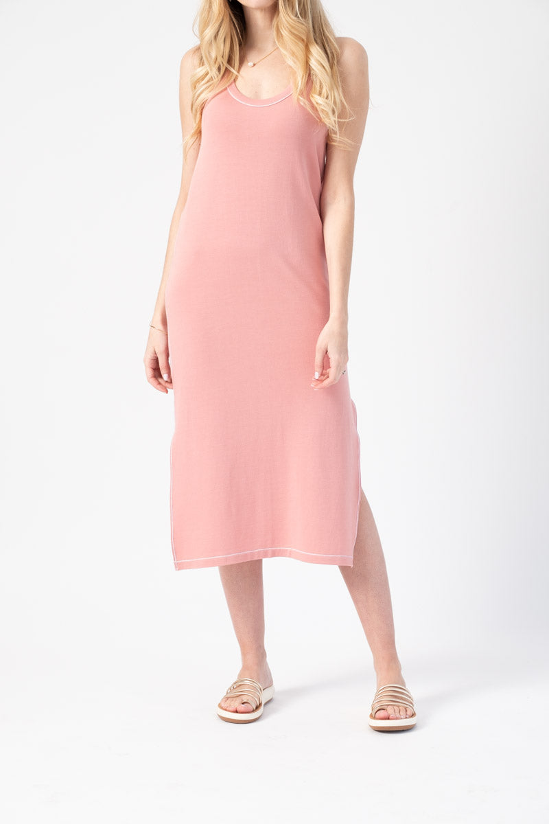 Marlon Tank Dress in Palerose