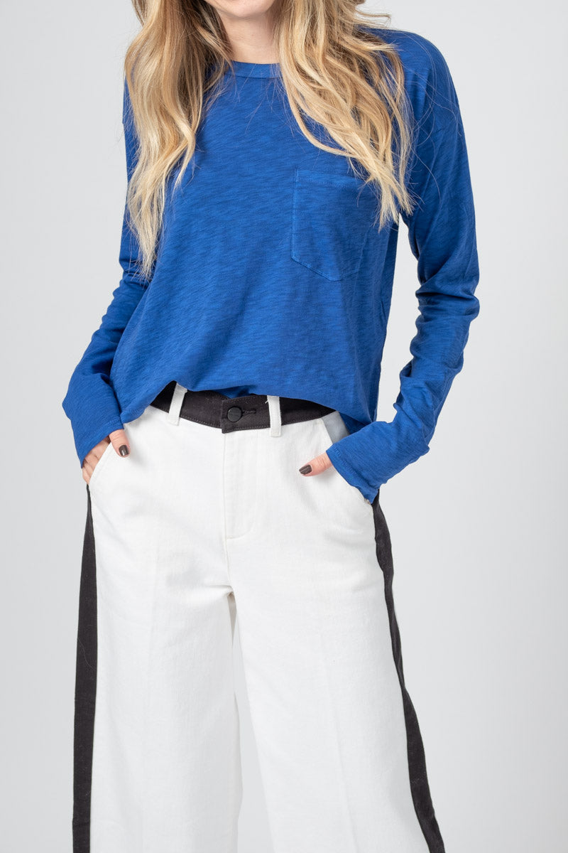 The Cropped Long Sleeve in Blue Paradise