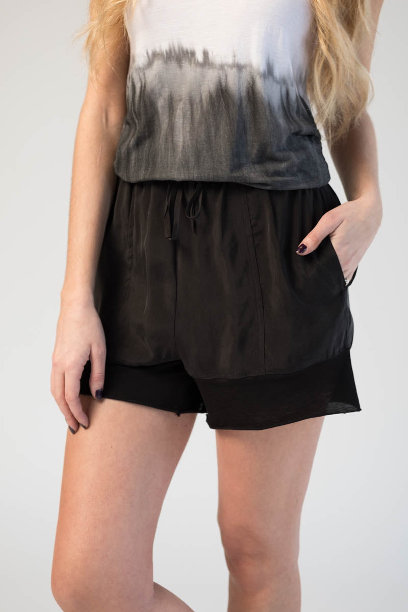 Cupro Shorts in Black