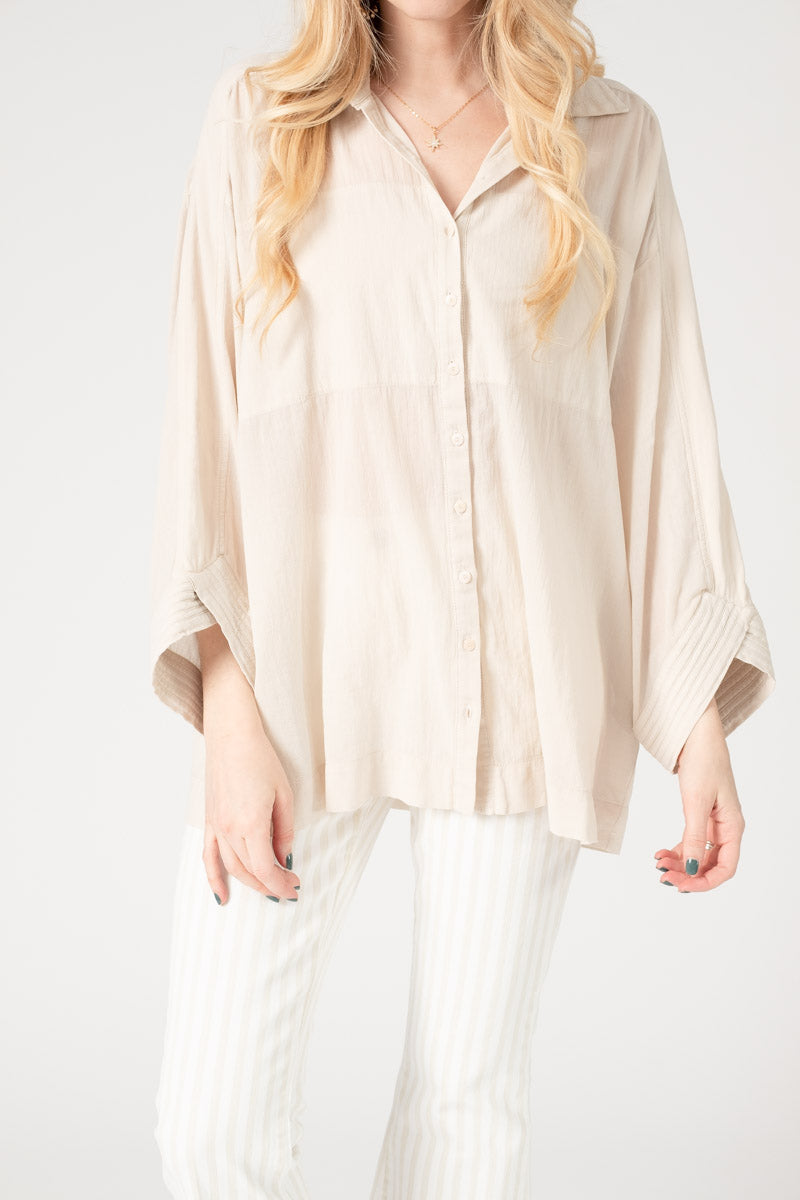 Cotton Shirt in Pale Pink
