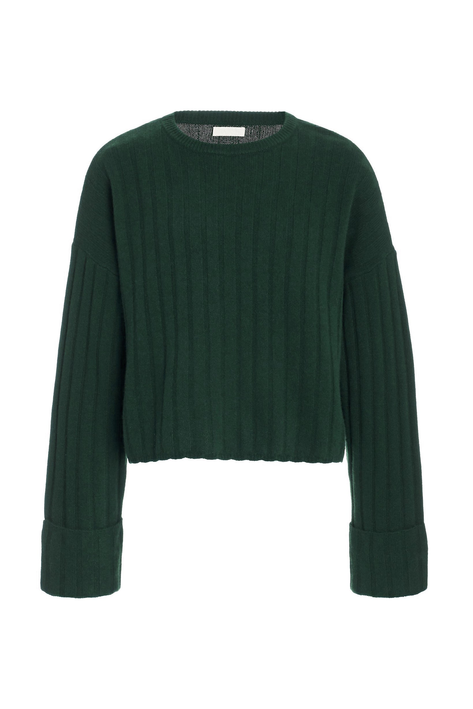 Nathan Cashmere Sweater in Hunter Green