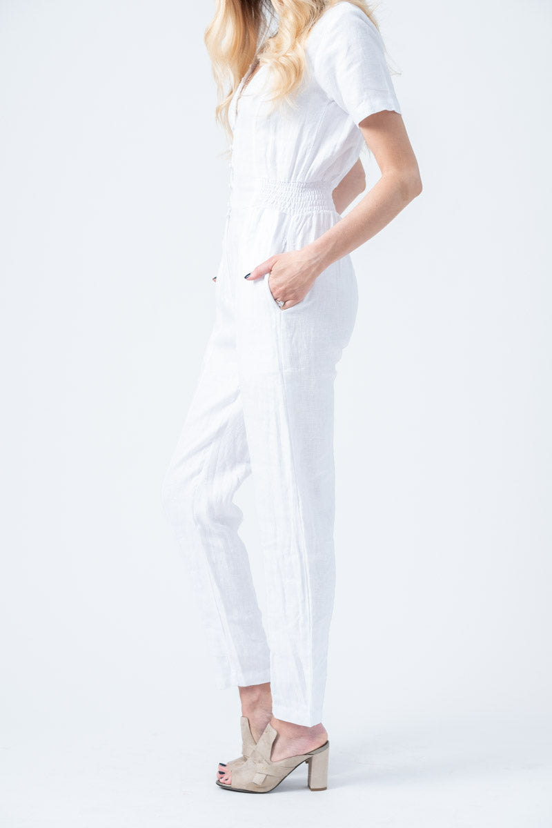 Inaya Jumpsuit in Blanc