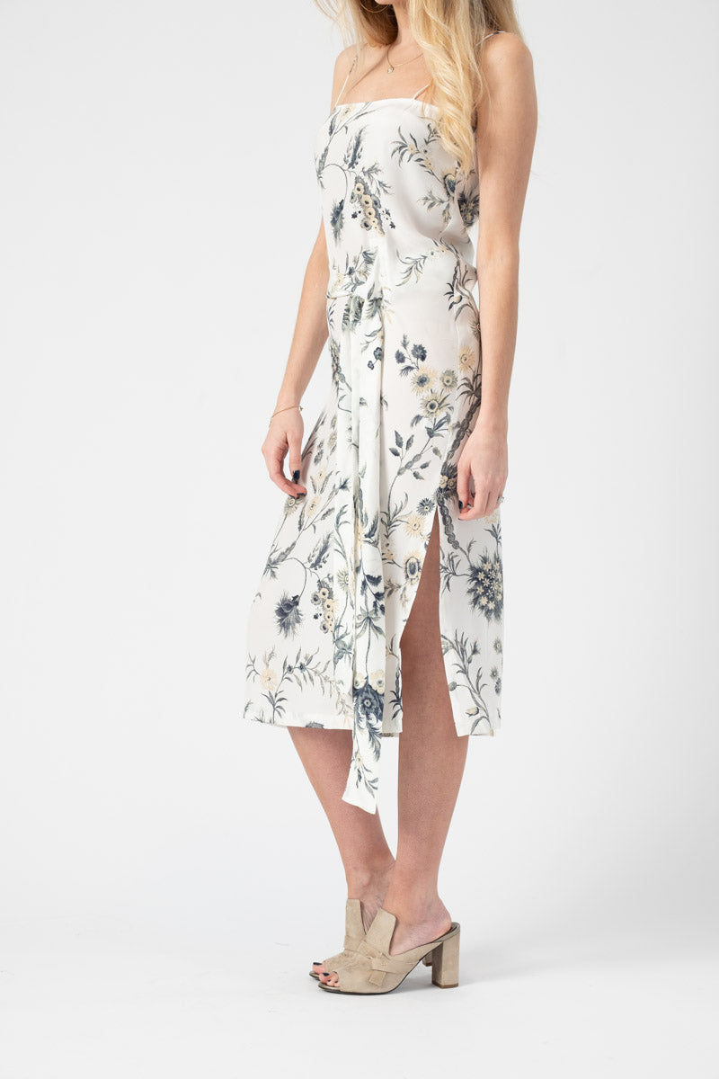 Mathilde Wrap Dress in Bouton D'Or Fleur Print