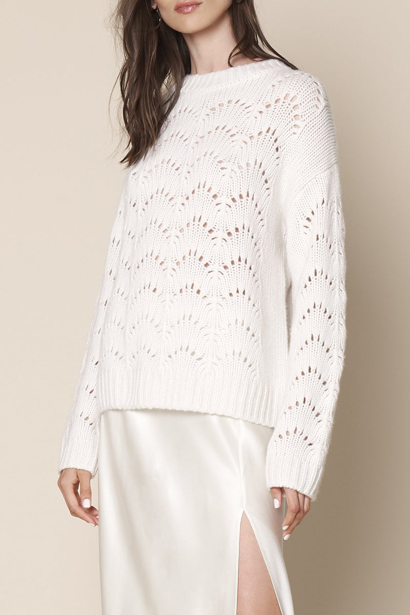 Stevie Pullover in Winter White