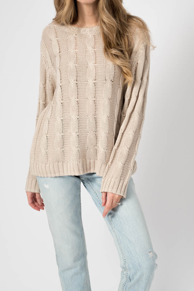 Cassidy Cashmere Sweater in Fawn