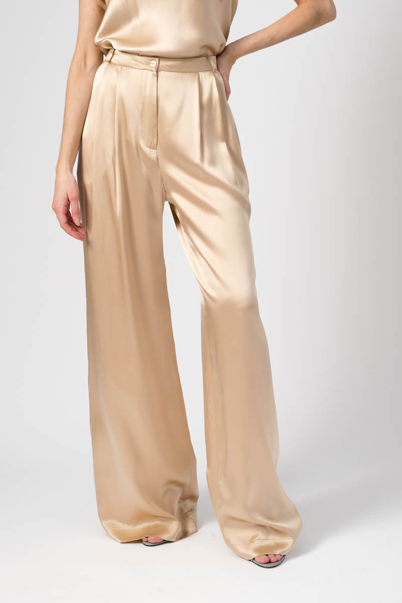 Vera Pleated Pant in Fawn