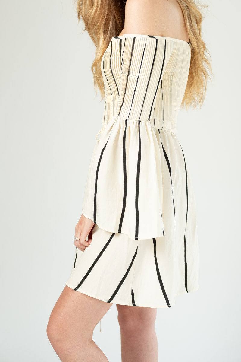 Milos Dress in Darcy Stripe