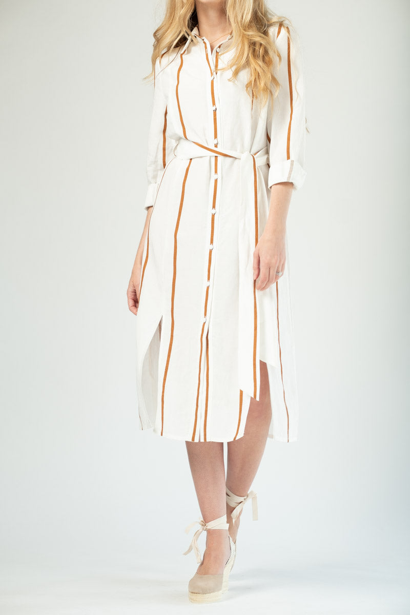 Stevie Dress in Mae Stripe