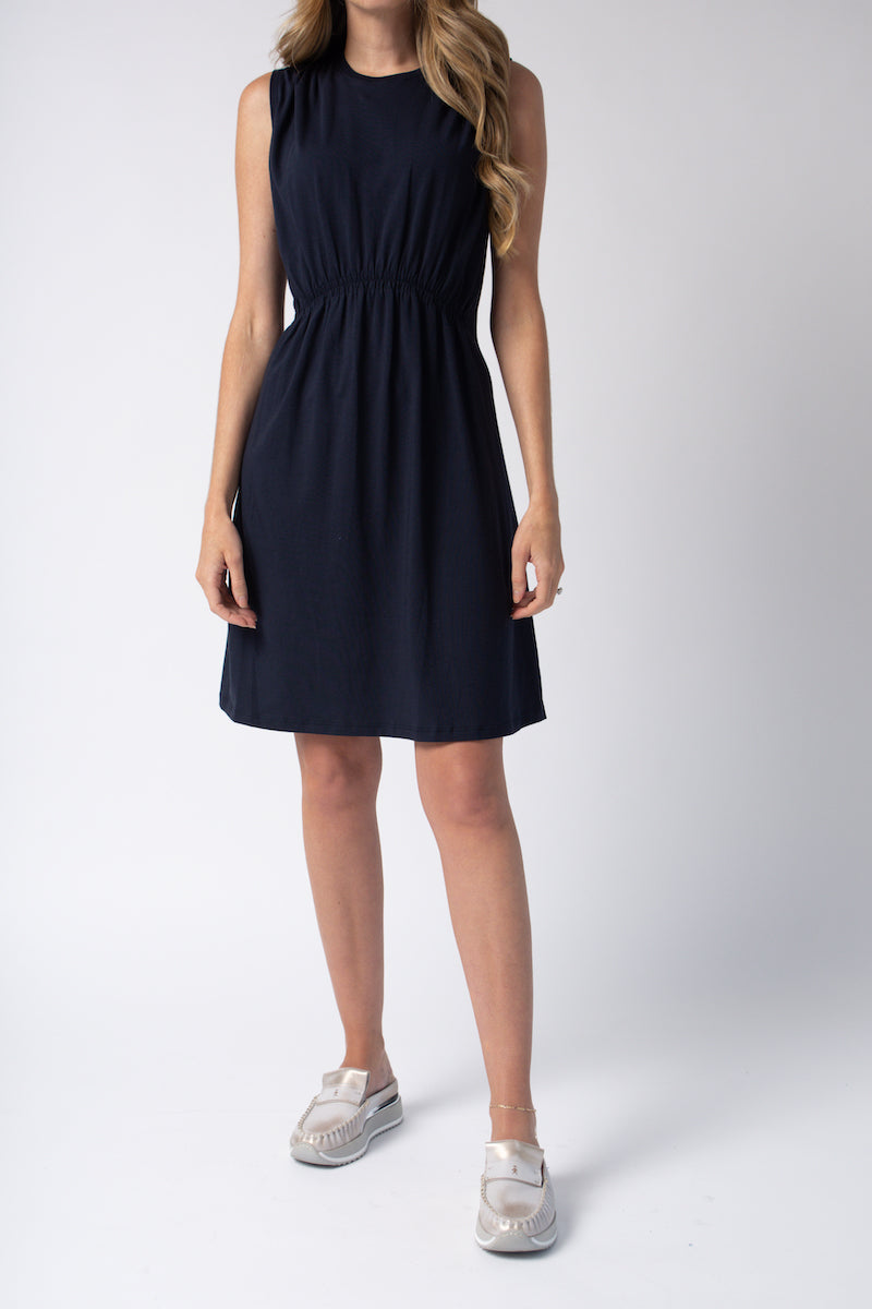 Pima Cotton Dress in Navy